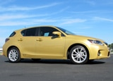 A side view of a 2011 Lexus CT 200h