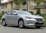 A three-quarter front view of a Lexus ES 300h