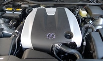 The 3.5-liter, direct-injected V6 engine of the 2013 Lexus GS 350 F Sport