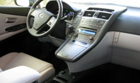An interior view of a 2010 Lexus HS 250h