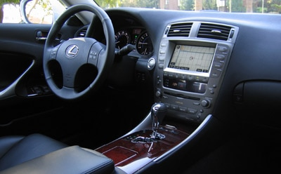 Lexus IS 250 interior is beautifully crafted