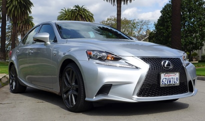 The Lexus IS 350 F Sport, one of GAYOT's Top 10 Small Cars