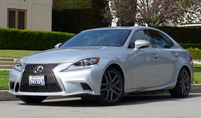 A three-quarter front view of the Lexus IS 350 F Sport