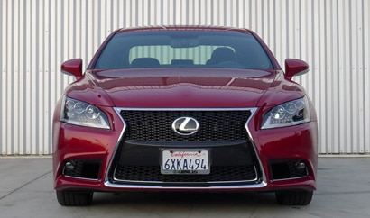 A front view of a 2013 Lexus LS 460 F Sport, one of our Top 10 Luxury Sedans