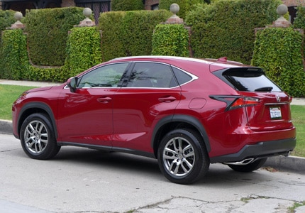 A side view of the 2015 Lexus NX 200t