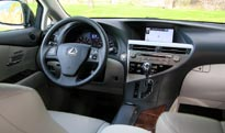 A front interior view of a 2009 Lexus RX 350