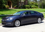 A three-quarter front view of a 2013 Lincoln MKZ AWD