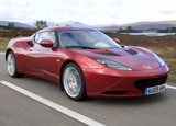 A three-quarter front view of a 2010 Lotus Evora