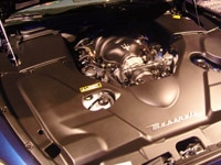 A look at the Maserati GranTurismo's engine