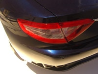 The rear tail light of the Maserati GranTurismo