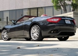 A three-quarter rear view of a 2010 Maserati GranTurismo Convertible