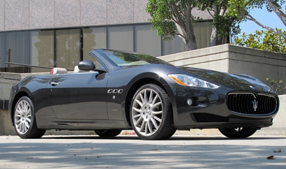 A three-quarter front view of a 2010 Maserati GranTurismo Convertible