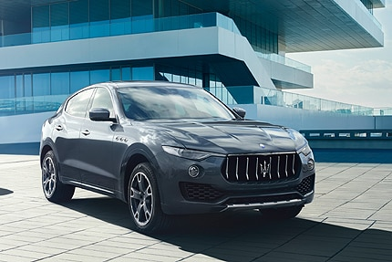 A three-quarter front view of a 2016 Maserati Levante