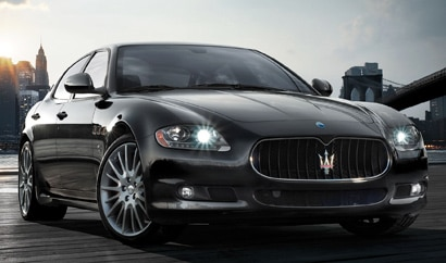 A three-quarter front view of a 2012 Maserati Quattroporte Sport