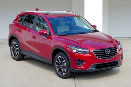 A three-quarter front view of the 2016 Mazda CX-5 Grand Touring FWD