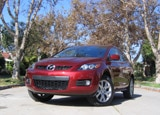 A three-quarter front view of a 2007 Mazda CX-7 Grand Touring AWD