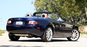 A three-quarter rear view of a 2007 Mazda MX-5 Miata Power