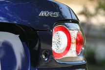 A rear bumper view of a 2007 Mazda MX-5 Miata Power