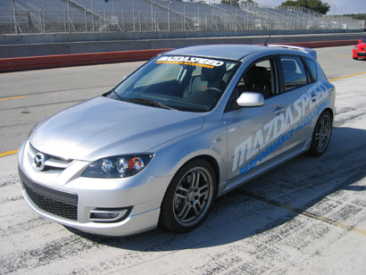 The Mazdaspeed3 at the track