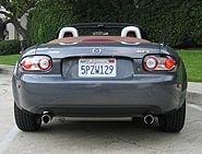 A rear view of a 2006 Mazda MX-5 Miata
