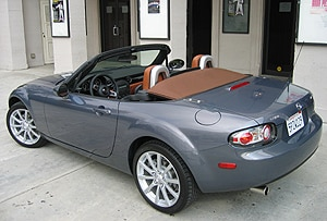A three-quarter rear view of a 2006 Mazda MX-5 Miata