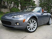 A three-quarter front view of a 2006 Mazda MX-5 Miata