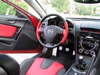 A front interior view of a 2004 Mazda RX-8