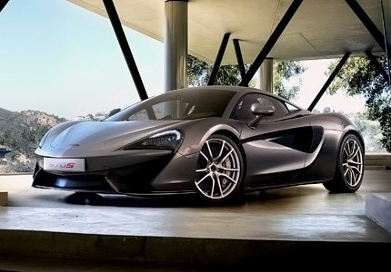 A three-quarter front view of the McLaren 650S