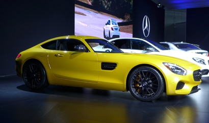 A side view of the 2015 Mercedes AMG GT