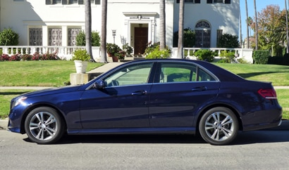 A diesel-powered Mercedes-Benz E250 BlueTEC, one of Gayot's Top 10 Fuel Efficient Cars