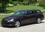 A three-quarter front view of a 2011 Mercedes-Benz E350 4MATIC Wagon