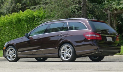 A three-quarter rear view of a 2011 Mercedes-Benz E350 4MATIC Wagon