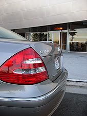 Rear bumper of the 2006 Mercedes-Benz E350