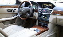 An interior view of the 2010 Mercedes-Benz E550