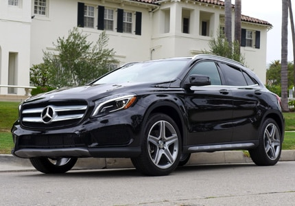 The Mercedes-Benz GLA250, one of GAYOT's Top 10 Crossovers