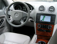 An interior view of the 2006 Mercedes-Benz ML350