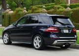 A three-quarter rear view of the Mercedes-Benz ML550