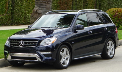 A three-quarter front view of a 2012 Mercedes-Benz ML550