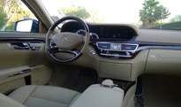 An interior view of the 2012 Mercedes-Benz S400 Hybrid