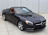 A three-quarter front view of a 2013 Mercedes-Benz SL550 Roadster