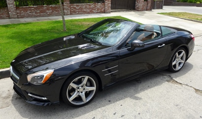 A three-quarter front view of the Mercedes-Benz SL550 Roadster