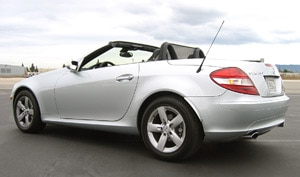 A three-quarter rear view of a 2006 Mercedes-Benz SLK280