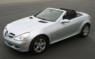 A three-quarter front view of a 2006 Mercedes-Benz SLK280