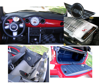 Various interior views of a 2006 Mini Cooper S Convertible John Cooper Works