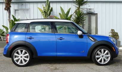 A side view of a 2011 Mini Cooper S Countryman