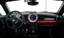 An interior view of the 2012 Mini Cooper S Coupe