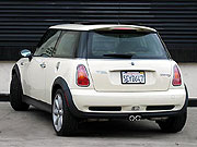 A three-quarter rear view of a 2004 Mini Cooper S