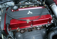 Mitsubishi Lancer Evolution IX 286-horsepower turbo-four engine