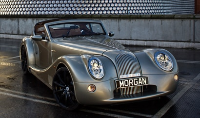 A three-quarter front view of the Morgan Aero SuperSports