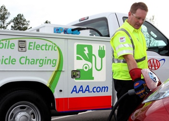 AAA's new recharging trucks are making their debut in six metropolitan areas later this summer